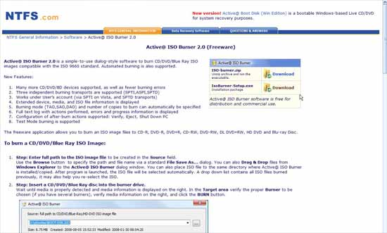 Download Active@ ISO Burner