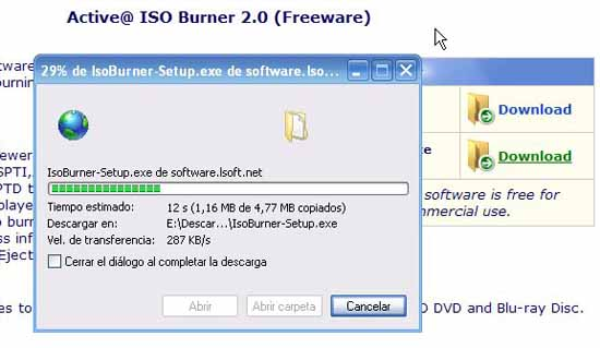 Active@ ISO Burner descarga