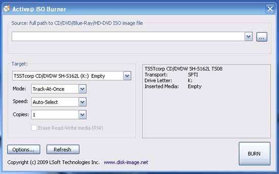 Active@ ISO Burner aplicación