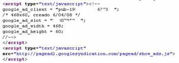 Código anuncio Adsense normal