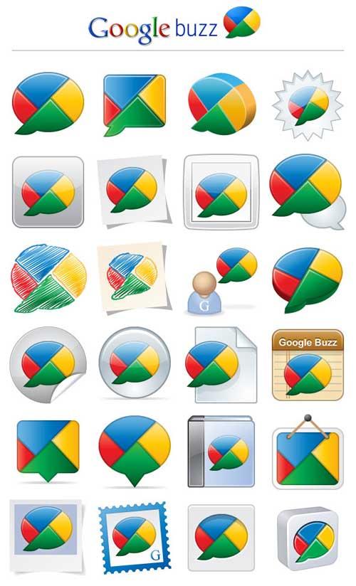 Pack iconos Google Buzz