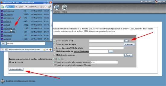 añadir ConfigServer Security & Firewall a webmin