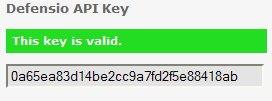 Defensio API key OK