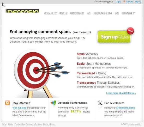 Administración pixelpost web-site addon defensio