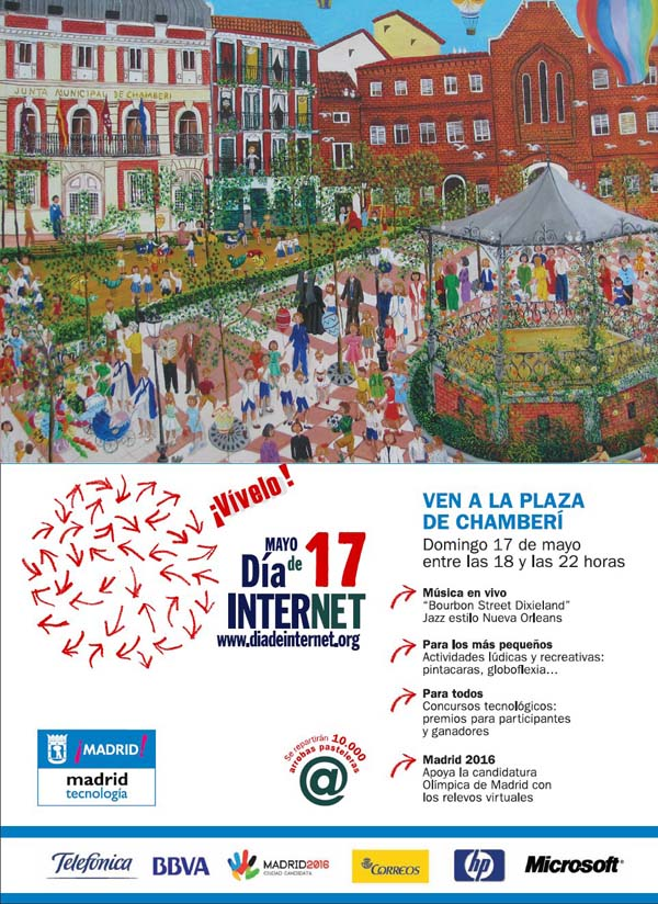 Día de internet, plaza de chamberí Madrid