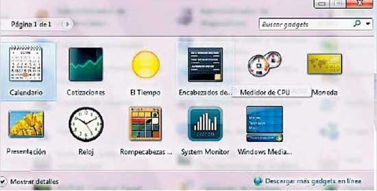 gadgets en Windows-7