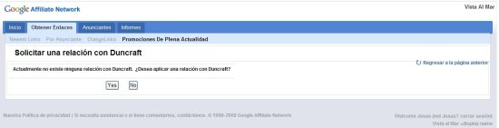 Google Affiliate Network - nueva relación