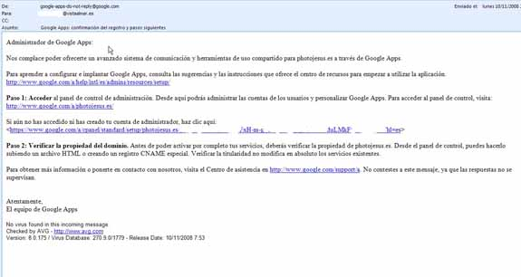 email Google Apps