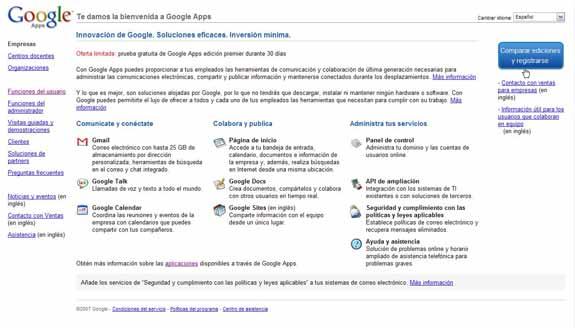 Bienvenida Google Apps