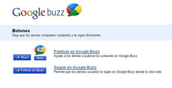 Google Buzz Botones Oficiales