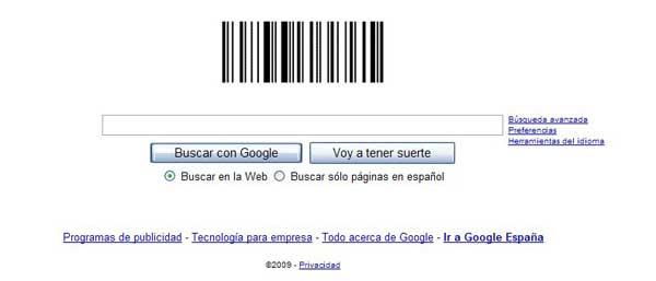google, logo código de barras