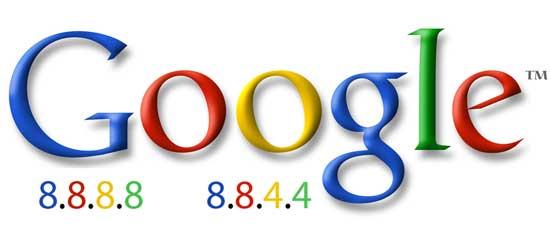 Logo Google DNS 8.8.8.8    8.8.4.4