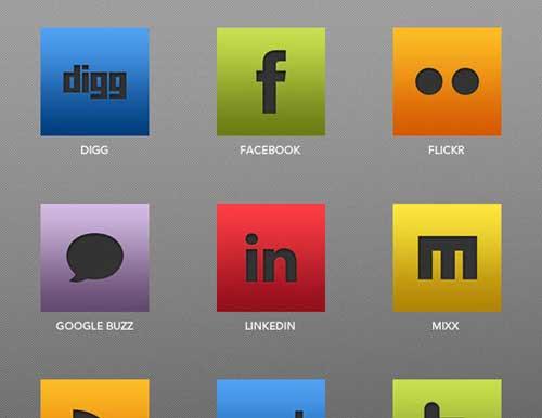 Iconos gratis de Redes Sociales con diseño Adobe Suite