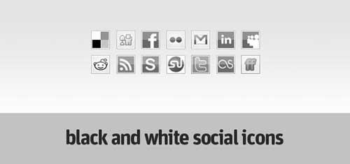 Iconos gratis de Redes Sociales en blanco y negro