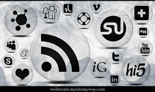 Iconos gratis de Redes Sociales negros con fondo transparente