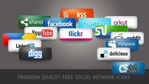 Iconos gratis para Redes Sociales con diseño de calidad