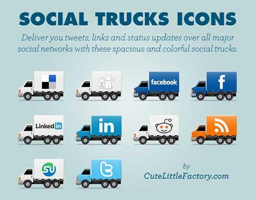Iconos gratis de Redes Sociales, camiones