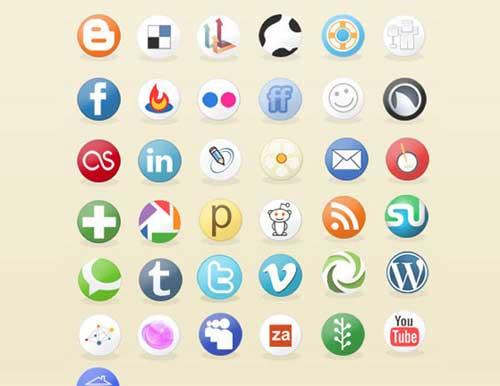 Iconos circulares gratis de Redes Sociales