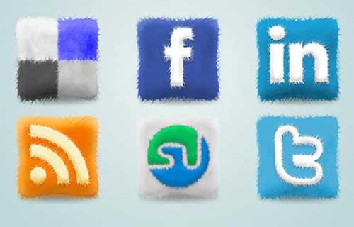 Iconos gratis de Redes Sociales, cojines de lujo