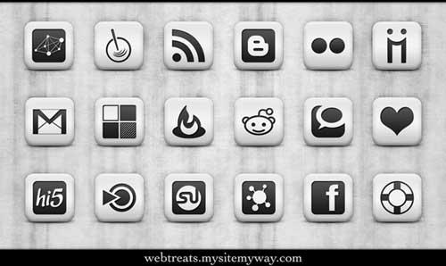 Iconos gratis para Redes Sociales en degradados blancos