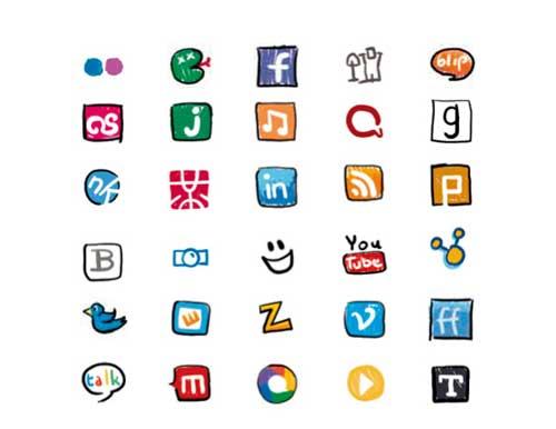 Iconos gratis de Redes Sociales, dibujo infantil