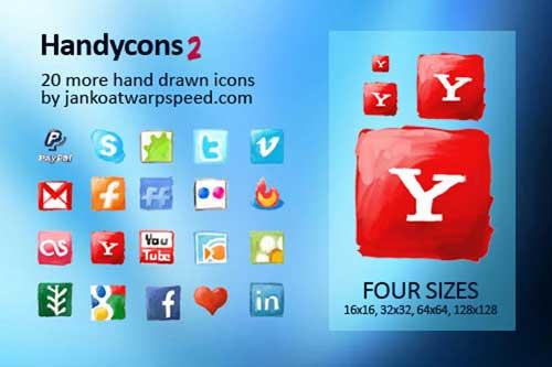 Iconos gratis de Redes Sociales, dibujados a mano