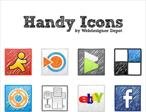 Iconos gratis de Redes Sociales, dibujos a mano