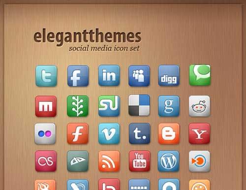 Iconos gratis de Redes Sociales de diseño elegante