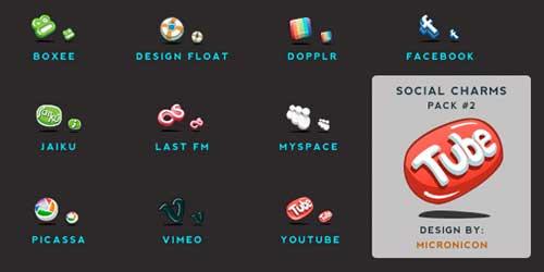 Iconos gratis para Redes Sociales en 3D