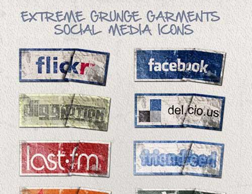 Iconos gratis de Redes Sociales como etiquetas de ropa