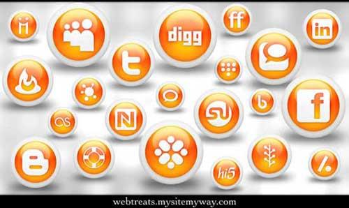 Iconos gratis para Redes Sociales de globos naranja