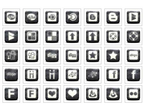 Iconos gratis de Redes Sociales en negro