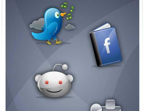 Iconos gratis para Redes Sociales que sugieren el nombre