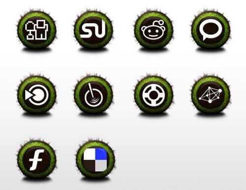 Iconos gratis de Redes Sociales, hierba