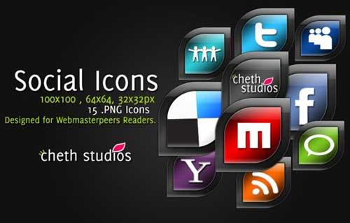 Iconos gratis para Redes Sociales en forma de hoja