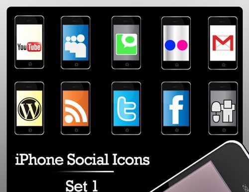 Iconos gratis de Redes Sociales, iphone