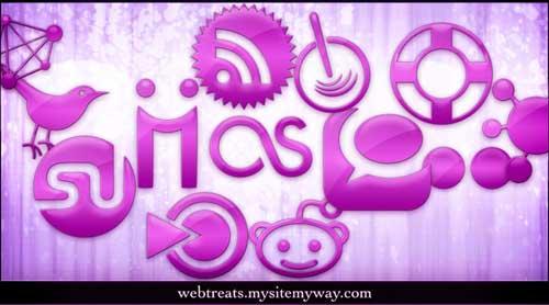 Iconos para Redes Sociales fucsia