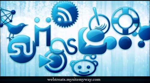 Iconos para Redes Sociales gelatina azul
