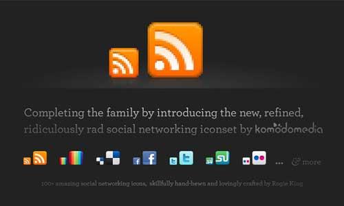 Iconos para Redes Sociales de Komodo