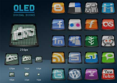 Iconos gratis de Redes Sociales, luces led