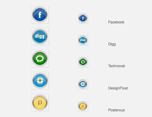 Iconos gratis de Redes Sociales en metal cromado
