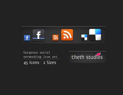 Iconos gratis para Redes Sociales de dos tamaños