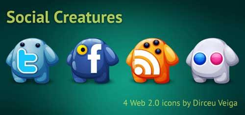 Iconos gratis de Redes Sociales, fantasmas