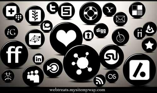 Iconos gratis para Redes Sociales en 3D blanco y negro