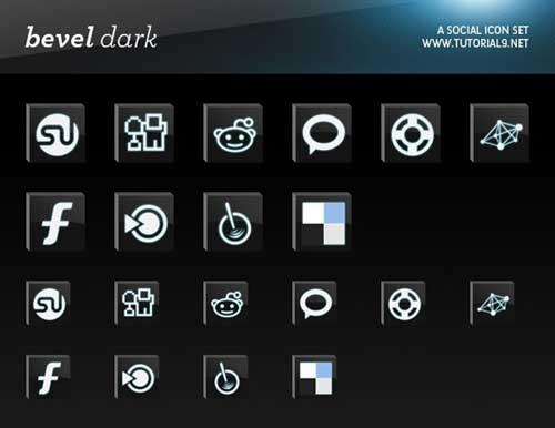 Iconos gratis de Redes Sociales en 3D oscuro