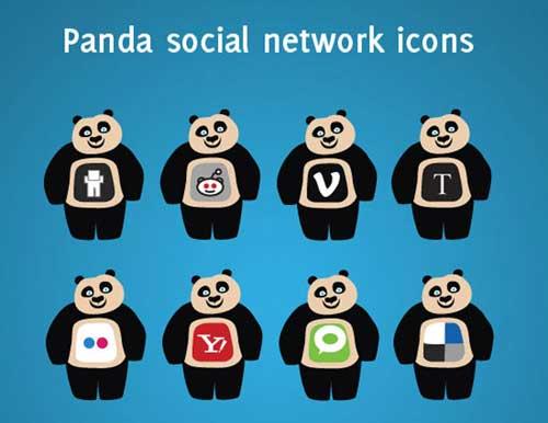 Iconos gratis de Redes Sociales, osos panda