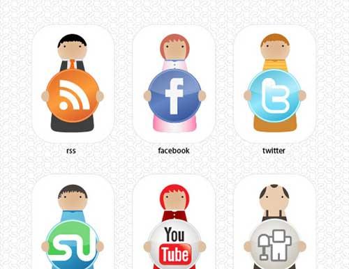 Iconos gratis de Redes Sociales, personajes