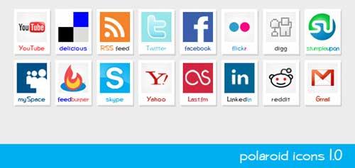 Iconos gratis de Redes Sociales polaroid