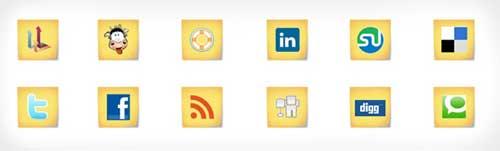 Iconos gratis de Redes Sociales, notas post-it