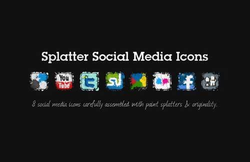Iconos gratis de Redes Sociales en forma de salpicadura